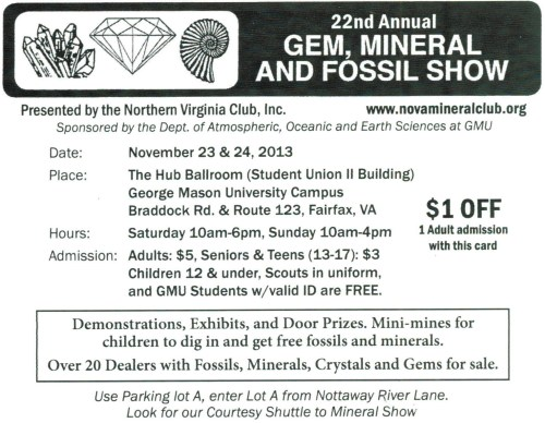 2013 NVMC GMU Show Card